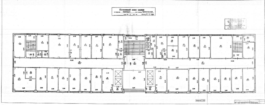 План расположения офисов 3 этажа